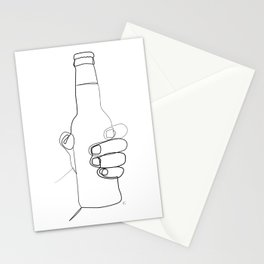 """"""" Kitchen Collection """" - Hand Holding Beer Bottle Stationery Cards"""