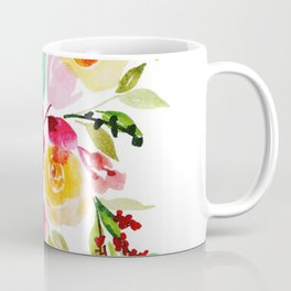 Beautiful Watercolor Floral Element Coffee Mug