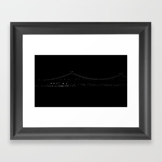 Night Pearls Framed Art Print