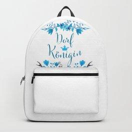 Dorfkönigin Florales Boho Humor Design Backpack