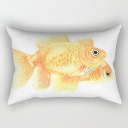 Watercolor Goldfish Rectangular Pillow