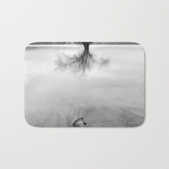 """""""Roots and trees..."""" BW Bath Mat"""