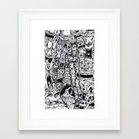 evil Framed Art Prints featuring Evil by Minus Tyler
