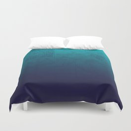 Blue Ombre Map Duvet Cover