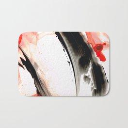 Black White Red Art - Tango 3 - Sharon Cummings Bath Mat