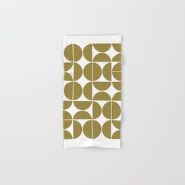 Mid Century Modern Geometric 04 Flat Gold Hand & Bath Towel
