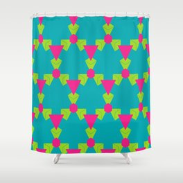 Triangles honeycombs and other shapes pattern Shower Curtain