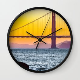 Golden Gate Bridge, San Francisco #decor #society6 #buyart Wall Clock