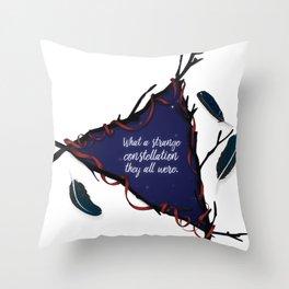 Her raven boys Throw Pillow