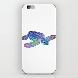 Colorful Sea Turtle I iPhone Skin