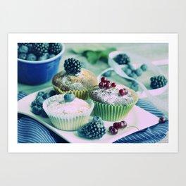 Fresh fruits Vintage kitchen Design Art Print