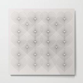 Heart Shape Pattern #society6 #decor #buyart Metal Print