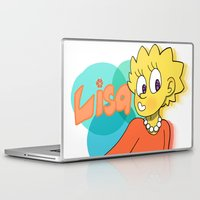 simpson Laptop & iPad Skins featuring Lisa Simpson by Burgandy Balloons