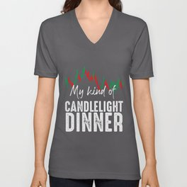 Trading Quote | Day Trader Daytrading Candlestick Unisex V-Neck