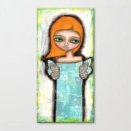 Mixed Media Fairy Girl 6 Canvas Print