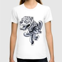 pit bull T-shirts featuring Ornamental Pit Bull by Pretty In Ink