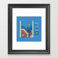 Unfortunate blue Framed Art Print