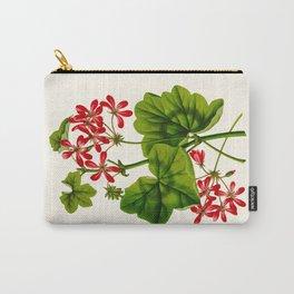 Joy Leaved Geranium Vintage Scientific Botanical Flower Illustration Hand Drawn Art Carry-All Pouch