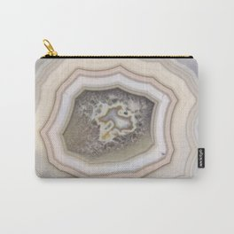 Lavender agate marble faux druse crystal quartz gem gemstone geode mineral stone photograph hipster Carry-All Pouch