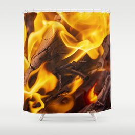 Fire and flames Shower Curtain