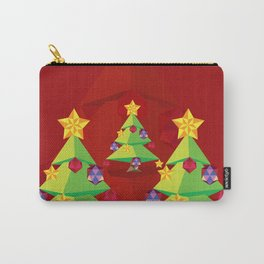 Polygonal green Christmas tree Carry-All Pouch