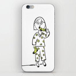 Put A Sock In It Idiom iPhone Skin