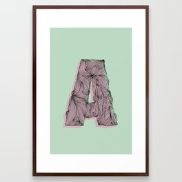 """""""A"""" Doodle Framed Art Print"""