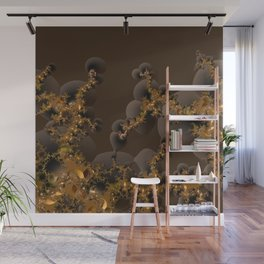 Organic Explosion of Chocolates - Fractal Golden Lava Wall Mural
