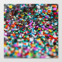 confetti Canvas Prints featuring Confetti by Laura Ruth