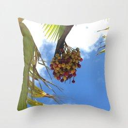 Puerto Rico Condado beach fruit Throw Pillow