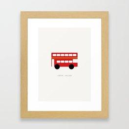 London Red Bus Framed Art Print