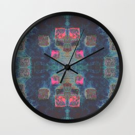 Toppled Ceramic Tiling Infared Style Wall Clock