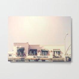 Pink Santa Monica Metal Print