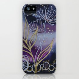 Purple Space Flowers iPhone Case