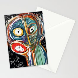 Street art graffiti My life is gone so fast Stationery Cards