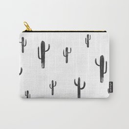 cactus print- white Carry-All Pouch