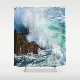 Stone waves Shower Curtain