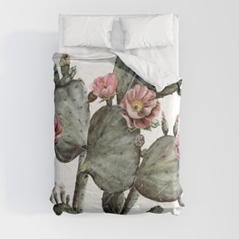 Prickly Pear Cactus Painting Comforters