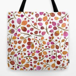 Tangle of Leaves - Autumn Berries Tote Bag
