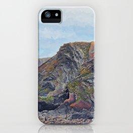 Hartland Quay Cliffs iPhone Case