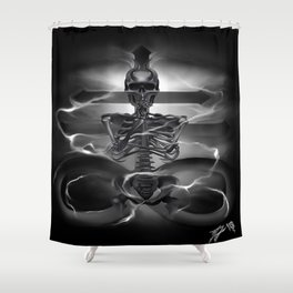 The rest is silence Shower Curtain