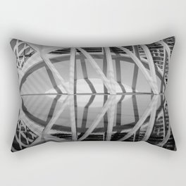 City of Arts and Sciences II by CALATRAVA architect Rectangular Pillow