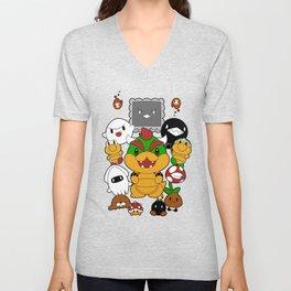 [Super Mario Bros] Baddies! Unisex V-Neck
