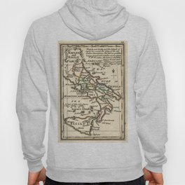 Vintage Map of Italy (1758) Hoody