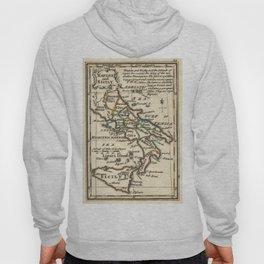 Vintage Map of Italy (1758) Hoody