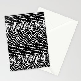African Mud Cloth // Black Stationery Cards