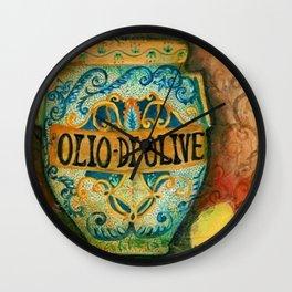 Tuscan Majolica Olio Wall Clock