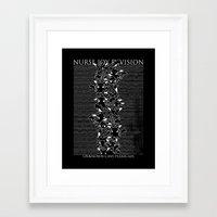 joy division Framed Art Prints featuring Nurse Joy Division by Tobe Fonseca