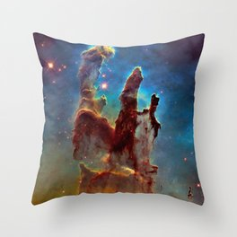 picture of star by hubble : pilliers of the creation. Throw Pillow