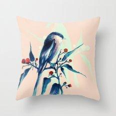 Hashtag Blue Bird Throw Pillow